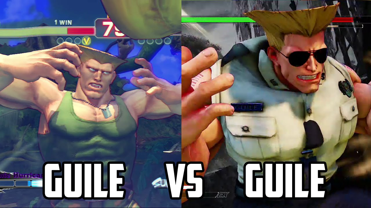 Guile: Side by Side + Sonic Boom comparison [SF4/SF5]